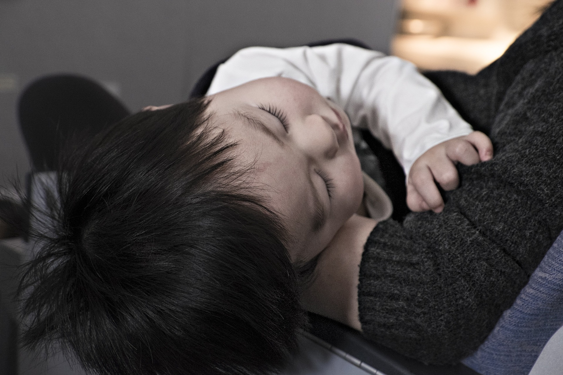 sleeping child with FAOD